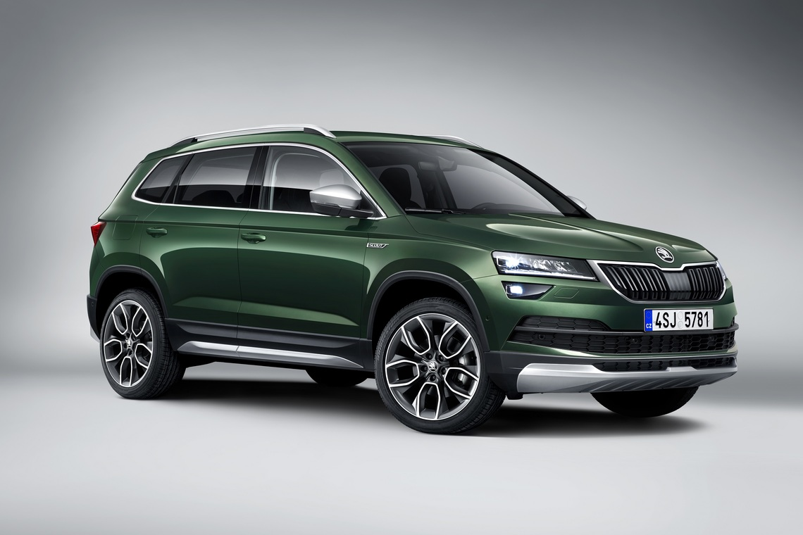 nieuwe skoda karoq scout en sportline varianten gepresenteerd activlease. Black Bedroom Furniture Sets. Home Design Ideas