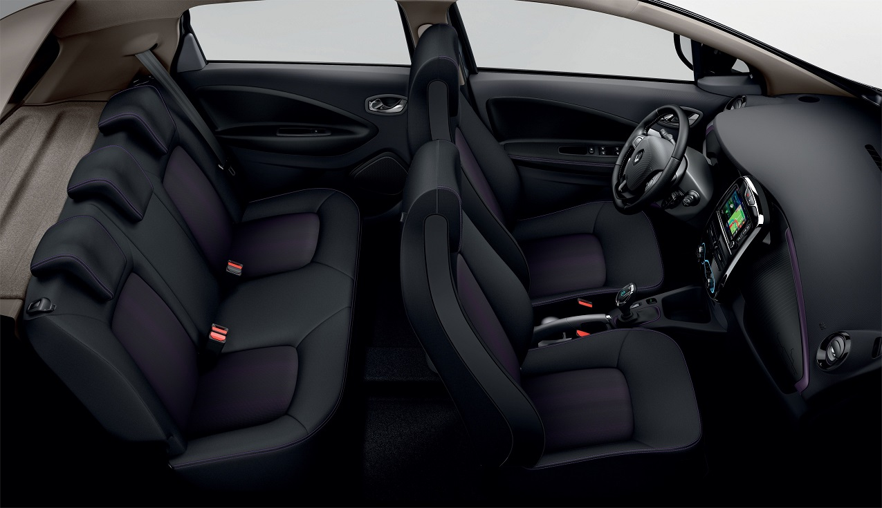 Renault Zoe interieur met Color Pack Purple