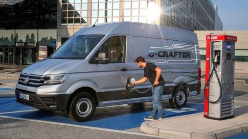 De Volkswagen E Crafter Bedrijfswagen Is Volledig Elektrisch En Nu