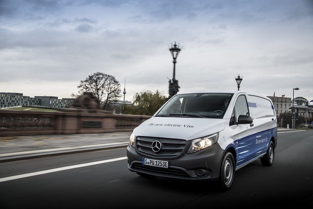 Mercedes Benz Toont Elektrische Evito Bestelbus Met 150 Km Bereik