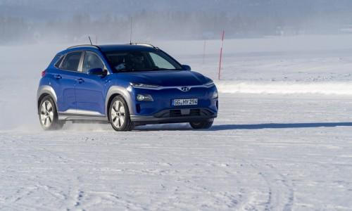 De Hyundai Kona Electric presteert ook goed bij extreem lage temperaturen