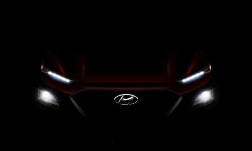 Hyundai Kona SUV toont zijn gezicht
