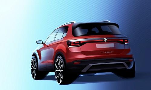 Eerste Volkswagen T-Cross teaserafbeelding