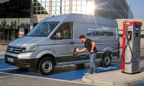 De Volkswagen e-Crafter bedrijfswagen is volledig elektrisch en nu te bestellen
