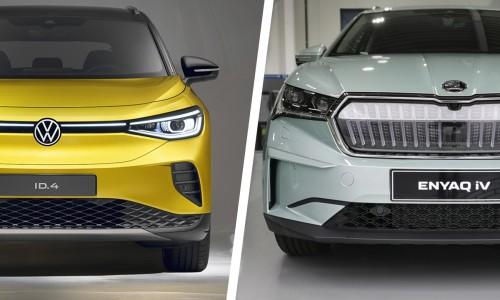 Vergelijk: de Volkswagen ID.4 versus Skoda Enyaq iV